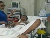 Salah satu korban kritis yang dirawat di Rumah Sakit - foto: Istimewa