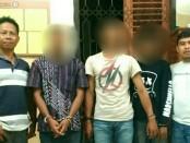 Ketiga pemuda bejat asal Puring, kini ditahan di Mapolsek Gombong. Mereka terancam hukuman 12 tahun penjara karena memperkosa Bunga. (Humas/Polres Kebumen)