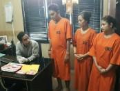 Tiga pelaku pengedar narkoba masing-masing, 2 orang perempuan berinisial LL (21) dan LAT (36) dan seorang laki-laki berinisial RW (32) diamankan Satuan Reserse Narkoba Polresta Denpasar - foto: Istimewa