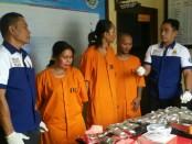 Tiga pelaku pengedar narkoba jenis ganja dan sabu-sabu yang diamankan Satuan Reserse Narkoba Polresta Denpasar - foto: Istimewa