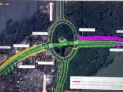 Peta proyek underpass simpang tugu Ngurah Rai - foto: Istimewa