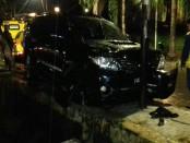 Kondisi mobil Fortuner bernopol B 1732 ZLO yang mengalami kecelakaan tunggal - foto: Istimewa