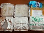 5 Koli sarang burung walet yang ditegah pejabat Bea dan Cukai Ngurah Rai. Barang itu dibawa penumpang dan tertahan ketika melewati pemeriksaan X-ray - foto: Istimewa