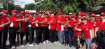 Sambut HUT PGRI Ke-72, Kota Denpasar Gelar Gerak Jalan Bersih di Pantai Matahari Terbit