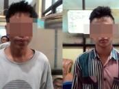 Pelaku fay (kiri) dan Ar (kanan) - foto: Sujono/Koranjuri.com