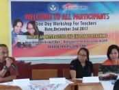 Kepala UPT Wilayah III Rote Ndao Yusuf Adu membawakan materi workshop - foto: Isak Doris Faot/Koranjuri.com