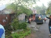 Rumah Komari, di Desa Patukrejo, Bonorowo, Kebumen, yang jadi korban perampokan - foto: Sujono/Koranjuri.com