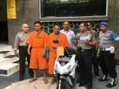 2 pelaku pencurian dengan pemberatan dengan sasaran sepeda motor, berhasil digulung tim Opsnal Polsek Kuta - foto: Istimewa