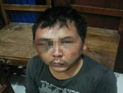 Pelaku pencurian rokok babak belur saat diamankan polisi - foto: Istimewa