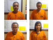 Empat orang tersangka pengedar sabu-sabu yang diamankan Satuan Reserse Polresta Denpasar - foto: Istimewa