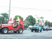 Puluhan Jip ala Offroad mewarnai kegiatan HUT LVRI ke-61 di Boyolali, Jateng pada hari Kamis (01/02) kemarin - foto: Media/Koranjuri.com