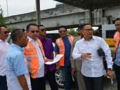 Direktur Utama PT Jasamarga Bali Tol, Akhmad Tito Karim menerima kunjungan Wakil Ketua Komisi III DPRD Provinsi Bali, IB Gede Udiyana, Kamis, 22 Februari 2018 - foto: Istimewa