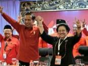 Presiden Jokowi bersama Ketum PDIP Megawati Soekarnoputri di acara Rakernas PDIP yang diadakan di Inna Grand Bali Beach, Sanur, 23-25 Februari 2018 - foto: Istimewa