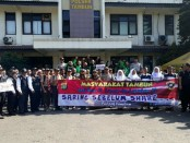 Deklarasi anti hoaks dilakukan kepolisian Sektor Tambun, Bekasi bersama elemen masyarakat, pelajar dan Pramuka - foto: Istimewa