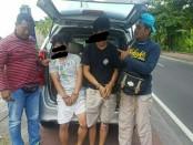 Dua pelaku penjambretan dengan korban bule wanita diamankan Polsek Kuta Utara - foto: Istimewa