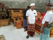 Calon Gubernur nomor urut 1, Wayan Koster mengunjungi sentra industri kerajinan gamelan di Jalan Raya Gong Gede, Banjar Tihingan, Desa Tihingan, Kabupaten Klungkung - foto: Istimewa