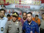 Polsek Kuta mengamankan bandar kokain dan pengguna sabu-sabu, salah satunya pramugari sebuah maskapai nasional - foto: Istimewa