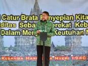 Menteri Agama Lukman Hakim Saifuddin menghadiri Upacara Tawur Agung Kesanga di pelataran Candi Prambanan, Jumat, 16 Maret 2018 - foto: Istimewa