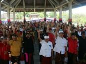 Calon Gubernur (Cagub) Bali nomor urut 1, I Wayan Koster menegaskan siap membangun kampus akademi komunitas atau sistem pendidikan setingkat diploma satu (D1) dan diploma dua (D2) di Kabupaten Klungkung - foto: Istimewa