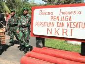 Slogan nasionalisme di perbatasan RI-Papua Nugini yang berada Distrik Sota, Kabupaten Merauke, Provinsi Papua - foto: Istimewa