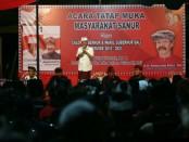 I Wayan Koster menghadiri deklarasi di Desa Intaran, Sanur, Denpasar, Jumat malam 6 April 2018 - foto: Istimewa