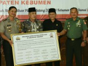 Deklarasi damai  digelar di Pendopo Kabupaten Kebumen, Rabu (11/4) - foto:  Sujono/Koranjuri.com