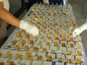 Tes urine terhadap PNS dan prajurit Makoopsau I - foto: Istimewa