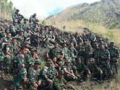 Prajurit Kodim 1626/Bangli mengikuti agenda Minggu Militer di Gunung Batur - foto: Istimewa