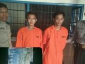 2 pelaku pencurian ponsel yang ditangkap Polsek Denpasar Barat hingga ke Balikpapan, Kalimantan Timur - foto: Istimewa
