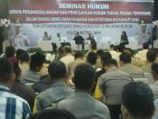 Seminar Hukum di Balai Pertemuan Metro Jaya, Kamis (24/5/2018) - foto: Bob/Koranjuri.com