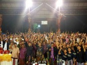 Desa Tegal Asah, Kecamatan Tembuku, Kabupaten Bangli tetap menyatakan dukungannya memenangkan dan memilih Koster-Ace pada Pilkada serentak 27 Juni 2018 - foto: Istimewa