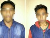 Kedua tersangka pencabulan, Ya dan M yang ditangkap Satreskrim Polres Purworejo - foto: Sujono/Koranjuri.com