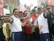 Penyambutan Pawai Obor Asian Games 2018 di Mataram - foto: Ari Wulandari/Koranjuri.com