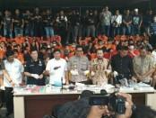 Operasi Cipta Kondisi di Polda Metro Jaya mengamankan 253 orang dengan 43 orang ditahan dan 210 orang dibina. Selain itu ada 11 orang tewas ditembak - foto: Bob/Koranjuri.com