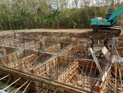 Proses pembangunan reservoar Kutoarjo - foto: Sujono/Koranjuri.com