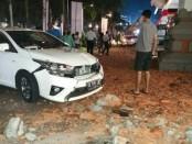 Kerusakan akibat gempa 7,0 SR di salah satu pusat perbelanjaan di Bali, Minggu, 5 Agustus 2018 - foto: Istimewa