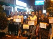 Ikatan Keluarga Sasak (IKASA) Bali menggalang donasi bagi korban bencana gempa Lombok - foto: Istimewa