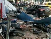 Situasi di Kota Mataram, NTB, ketika terjadi gempa susulan bermagnitudo 6,2, Kamis, 9 Agustus 2018 - foto: Istimewa