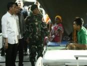 Presiden Jokowi mengunjungi tenda pengungsian gempa Lombok, Selasa, 14 Agustus 2018 - foto: Istimewa