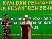Kyai dan pengasuh Pesantren Se-Indonesia berkumpul di pondok Pesantren Assidiqiyah Jakarta untuk mensepakati Itiqaf Kyai dan pengasuh pesantren untuk keselamatan Negara dan kemaslahatan umat, Sabtu (15/9/2018) - foto: Bob/Koranjuri.com