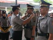 Kapolres Kebumen, AKBP Arief Bahtiar, saat memimpin sertijab sebelas perwira di Mapolres Kebumen, Jum'at (31/8) - foto: Sujono/Koranjuri.com