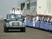 Pameran Alutsista TNI AL mengisi peringatan hari jadi TNI AL. Naval Base Open Day ini menampilkan kapal perang, kendaraan tempur marinir dan heli TNI AL - foto: Istimewa