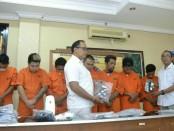 Pelaku pengguna dan pengedar narkoba yang ditangkap Kepolisian Polres Badung - foto: Istimewa