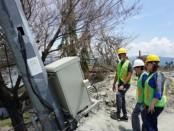 Pemulihan jaringan komunikasi XL Axiata di Sulteng pascabencana - foto: Ari Wulandari/Koranjuri.com