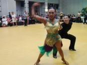 Penampilan peserta dalam International Bali Open I yang mempertandingkan kelas Dance Sport yunior, pemula, senior dan kelas profesional - foto: Koranjuri.com