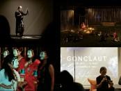 Kolase pertunjukan Gong Laut - foto: Istimewa