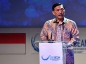 Menko Bidang Kemaritiman Luhut Binsar Panjaitan menutup Our Ocean Conference (OOC) di BNDCC, Nusa Dua, Bali - foto: Istimewa