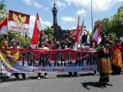 Aksi Tolak Khilafah yang dilakukan Patriot Garuda Nusantara (PGN) bersama elemen masyarakat Bali di Renon, Denpasar - foto: Koranjuri.com