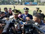 Pangdam IX/Udayana Mayjend TNI Benny Susianto usai menjadi Irup dalam upacara peringatan HUT TNI Ke-73 di Lapangan Puputan Badung - foto: Koranjuri.com