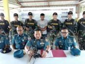 Danlantamal IV Tanjungpinang menangkap pelaku pencurian diatas Kapal di Tanjungpinang - foto: Istimewa
